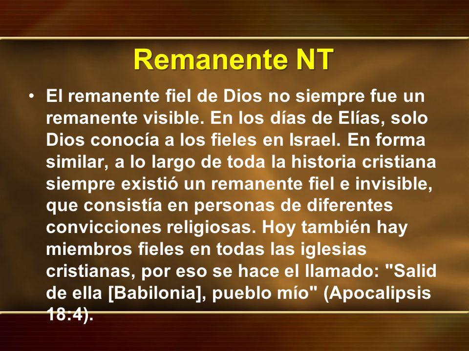 Remanente NT