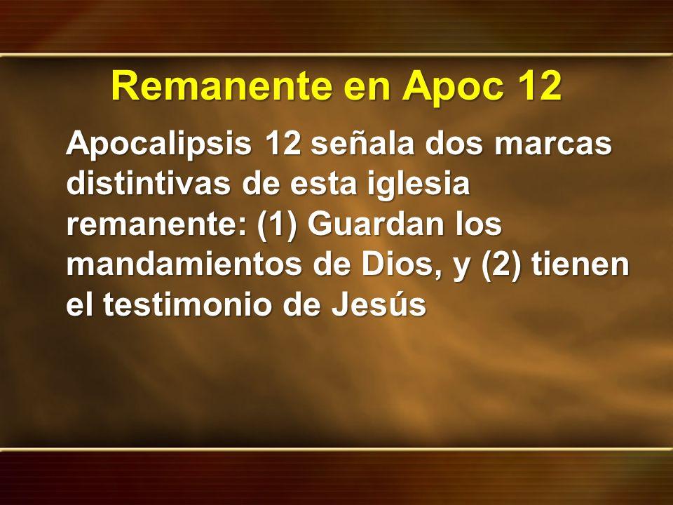 Remanente en Apoc 12