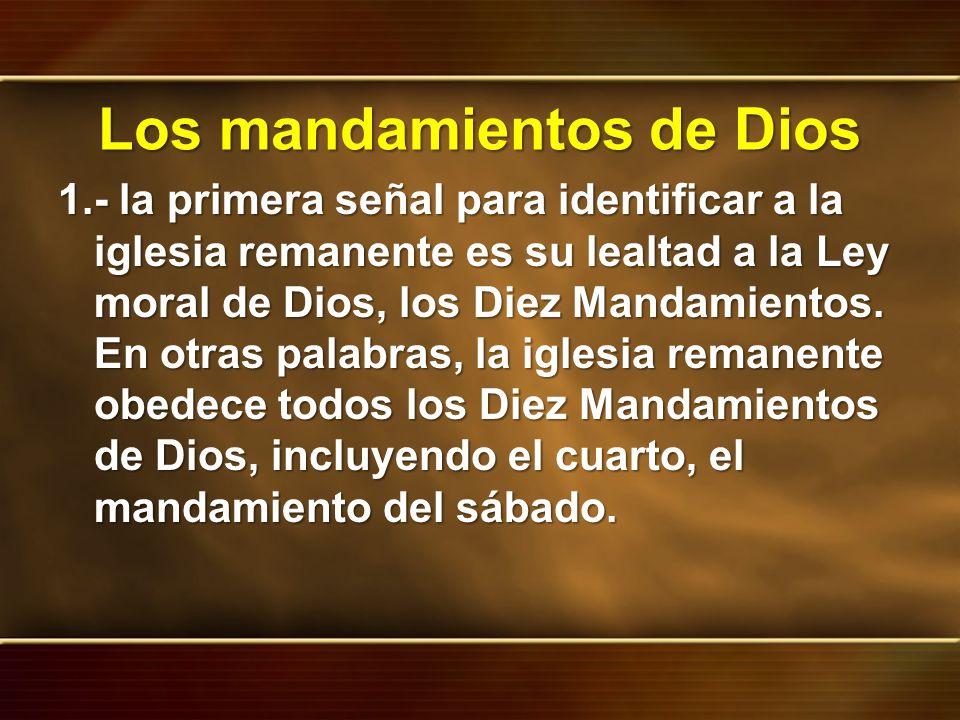 Los mandamientos de Dios