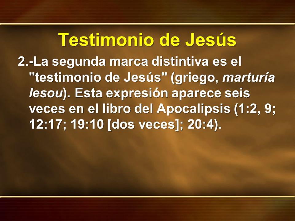 Testimonio de Jesús