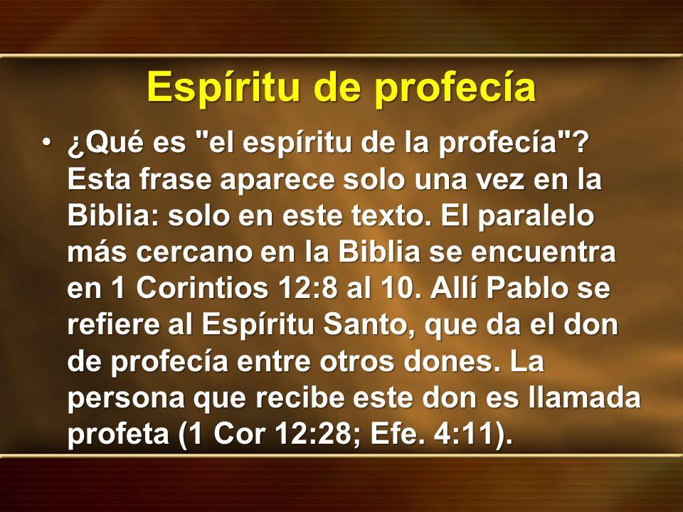 Espíritu de profecía