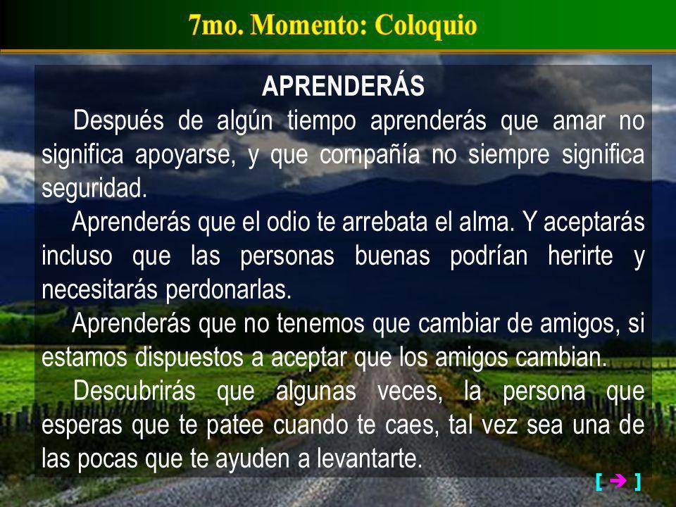 7mo. Momento: Coloquio APRENDERÁS