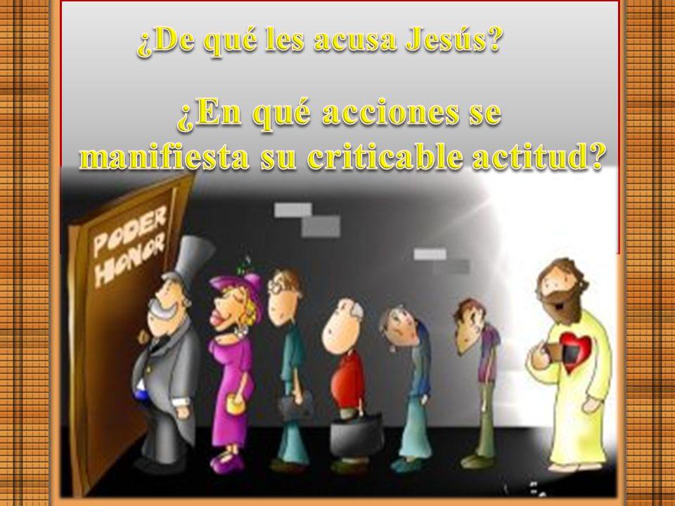 manifiesta su criticable actitud