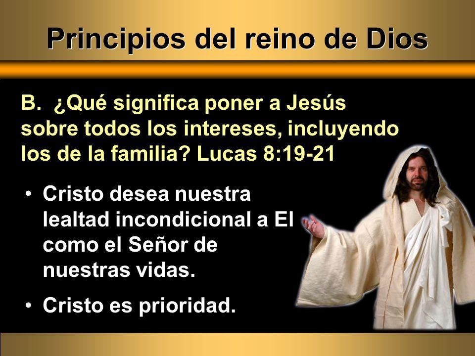 Principios del reino de Dios