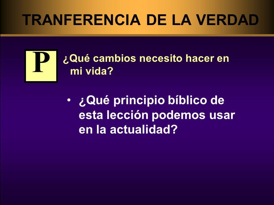 TRANFERENCIA DE LA VERDAD