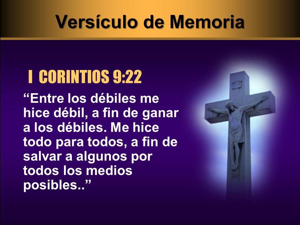 Versículo de Memoria I CORINTIOS 9:22