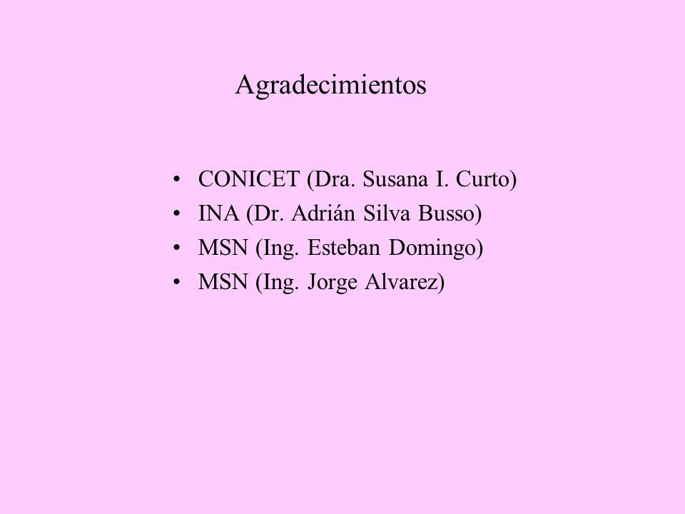 Agradecimientos CONICET (Dra. Susana I. Curto)