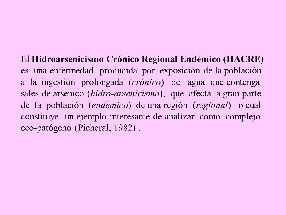 El Hidroarsenicismo Crónico Regional Endémico (HACRE)