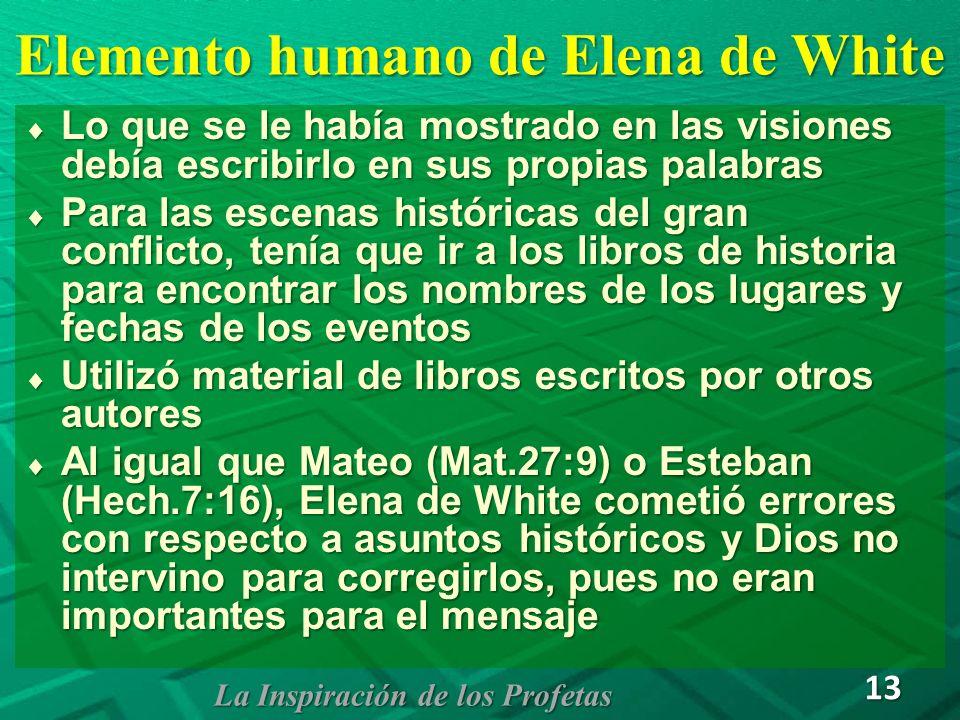 Elemento humano de Elena de White