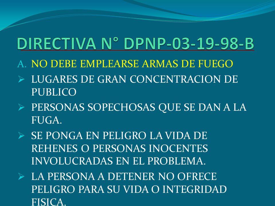 DIRECTIVA N° DPNP-03-19-98-B