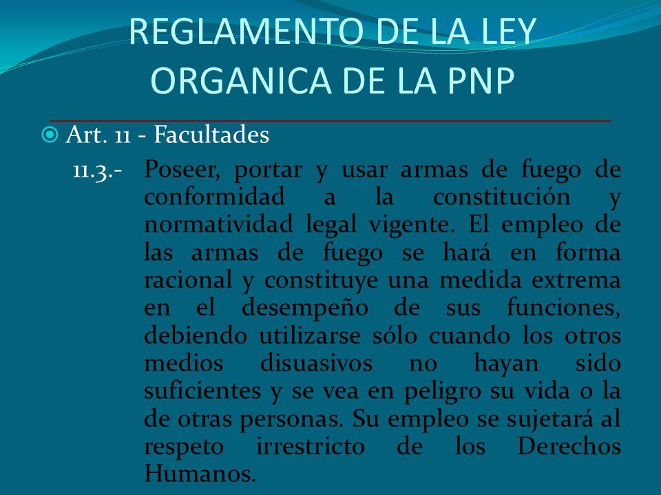 REGLAMENTO DE LA LEY ORGANICA DE LA PNP