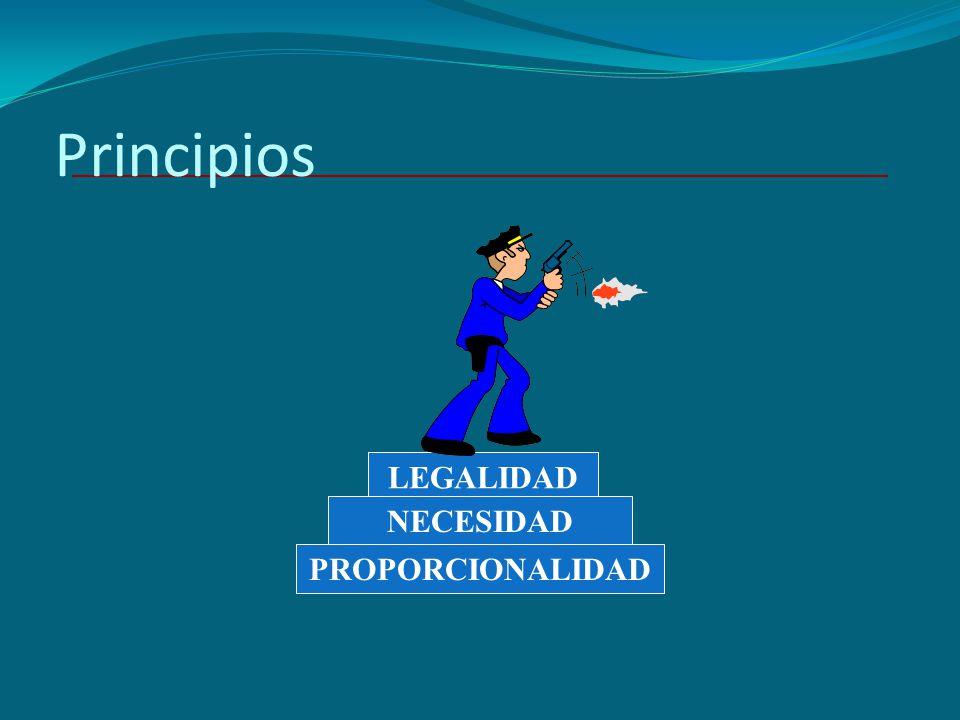 Principios LEGALIDAD NECESIDAD PROPORCIONALIDAD
