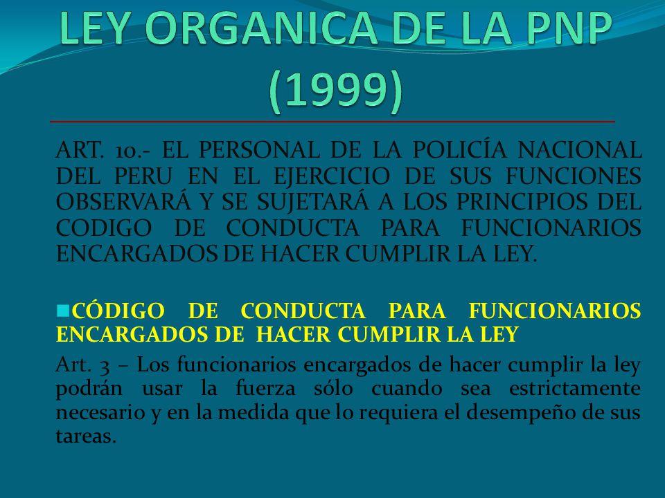LEY ORGANICA DE LA PNP (1999)