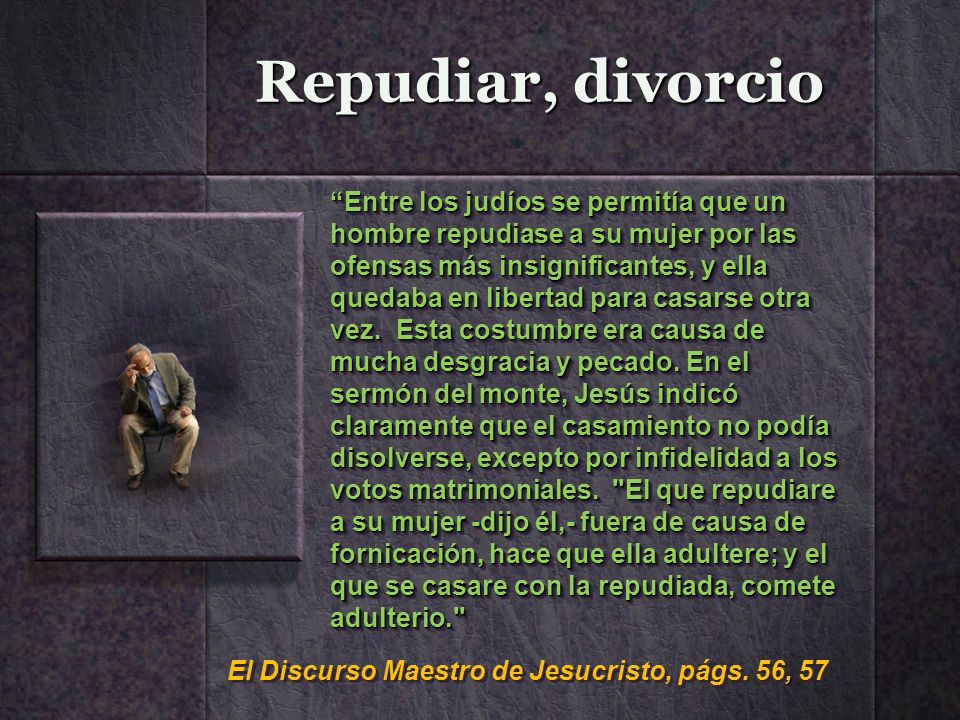 Repudiar, divorcio