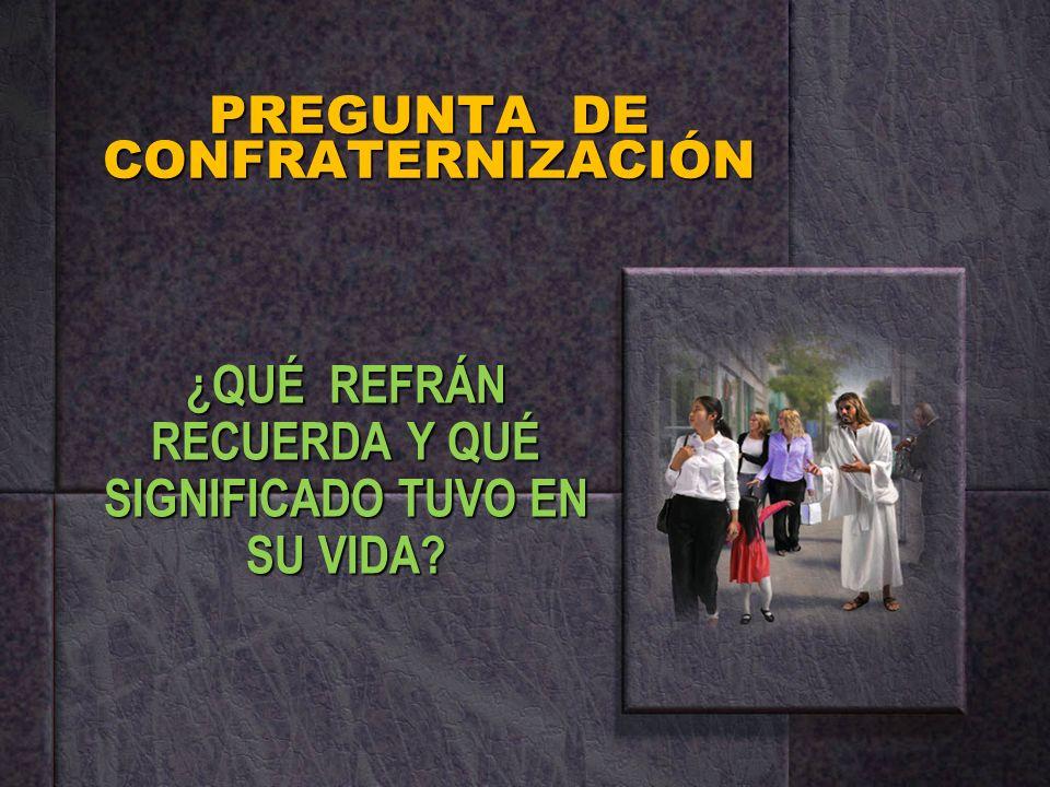 PREGUNTA DE CONFRATERNIZACIÓN