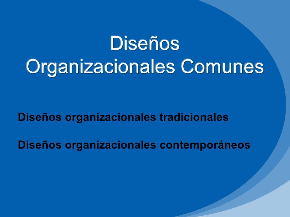 Diseños Organizacionales Comunes