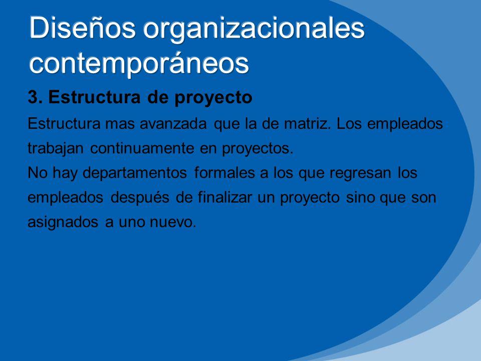 Diseños organizacionales contemporáneos