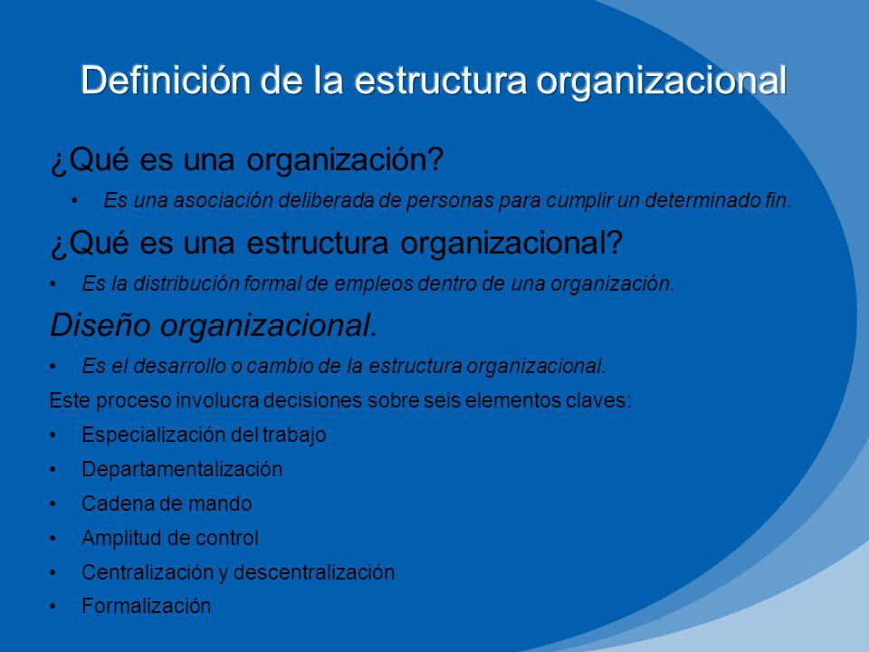 definición de la estructura organizacional - ppt video online