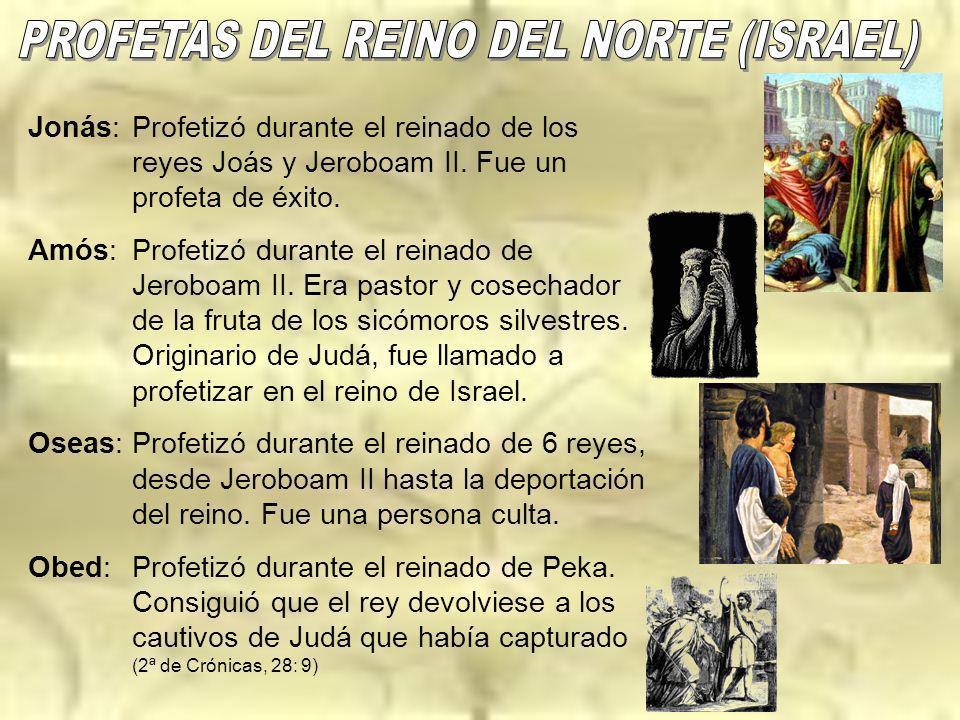 PROFETAS DEL REINO DEL NORTE (ISRAEL)