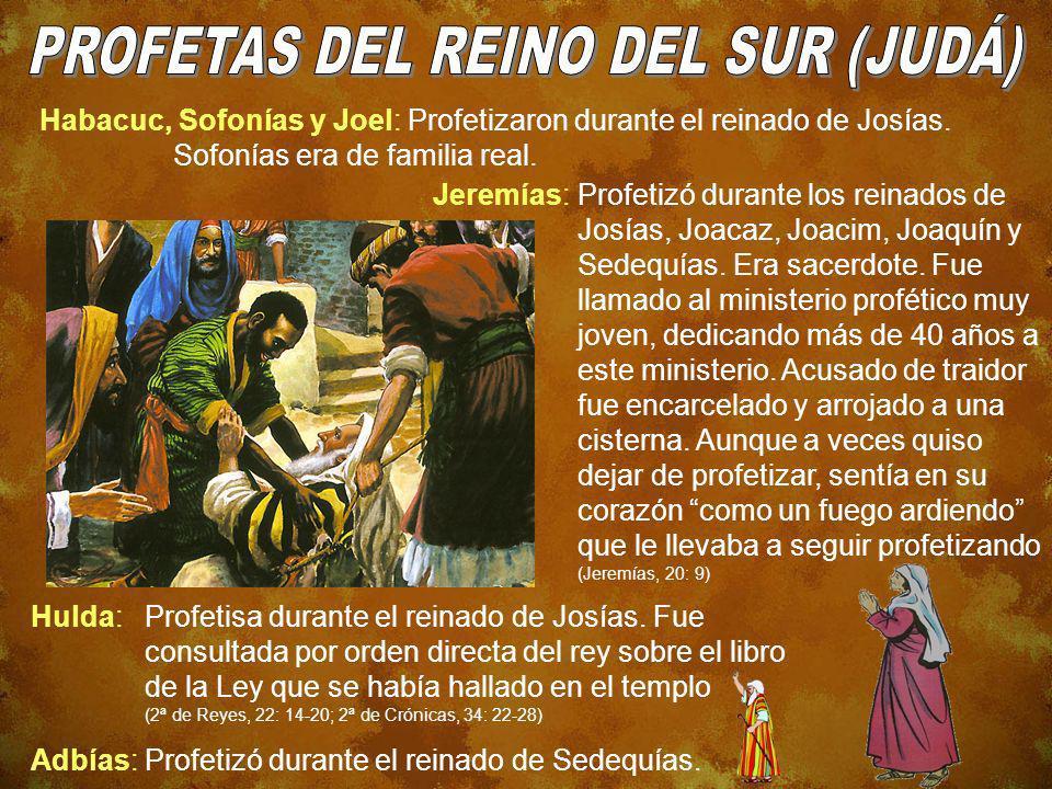 PROFETAS DEL REINO DEL SUR (JUDÁ)