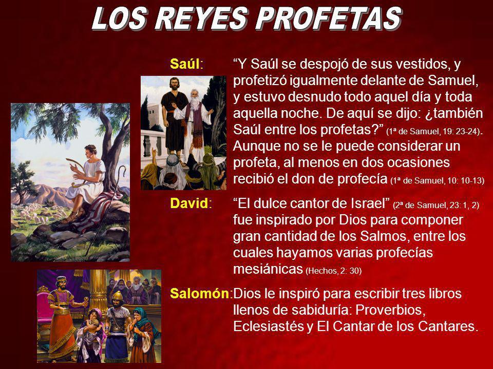 LOS REYES PROFETAS