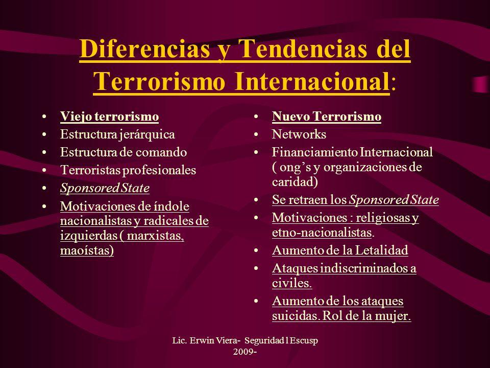 Diferencias y Tendencias del Terrorismo Internacional: