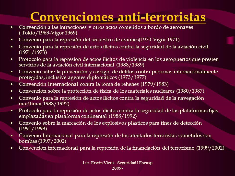 Convenciones anti-terroristas