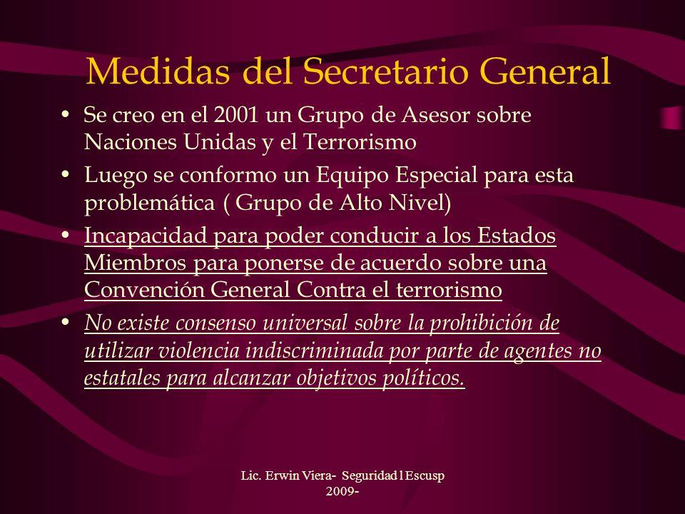 Medidas del Secretario General