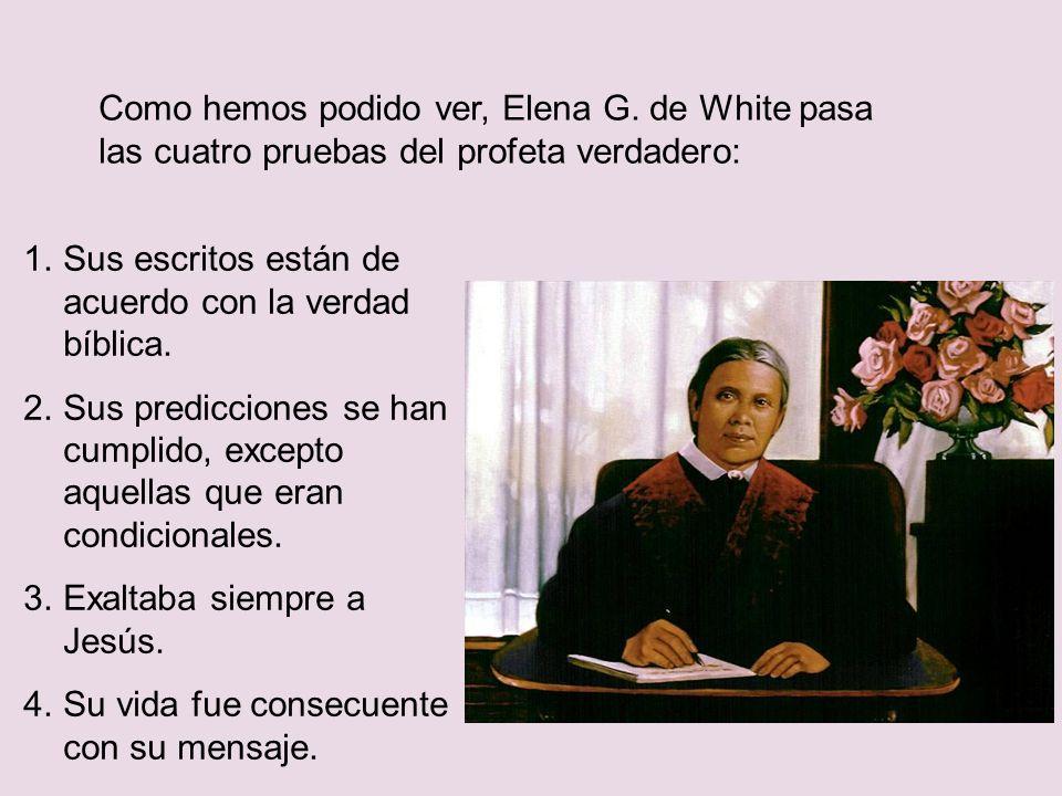 Como hemos podido ver, Elena G