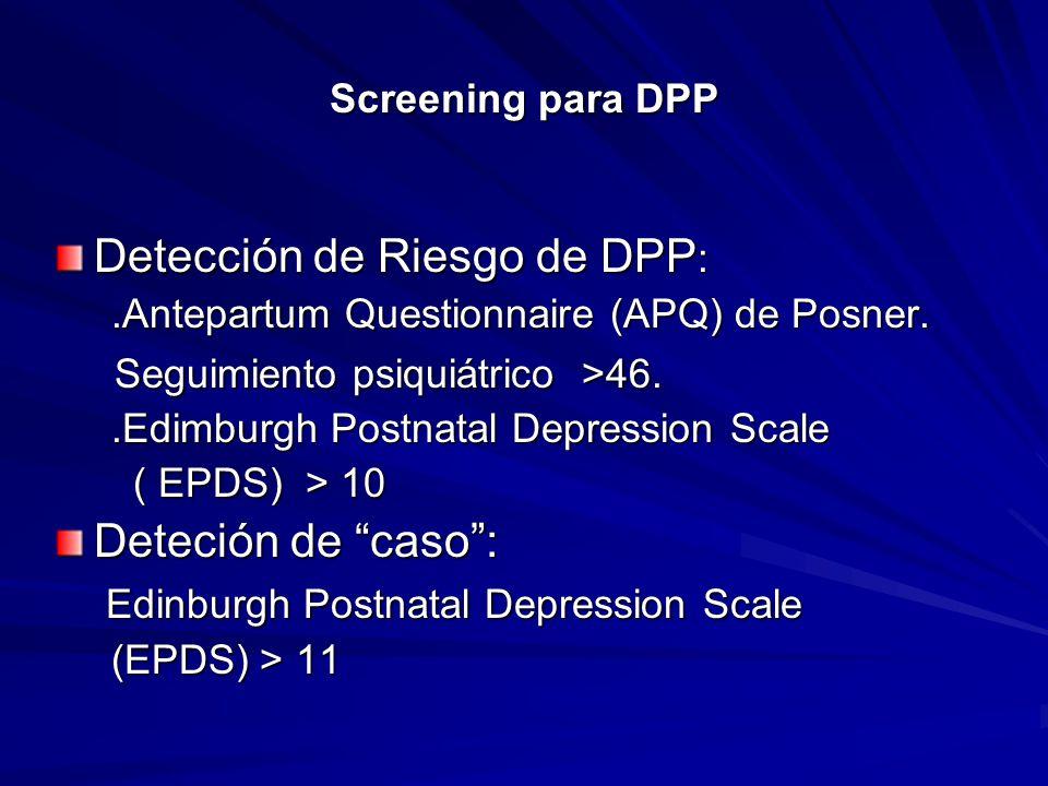 Detección de Riesgo de DPP: