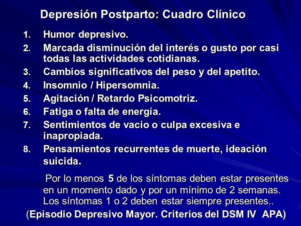 Depresión Postparto: Cuadro Clínico