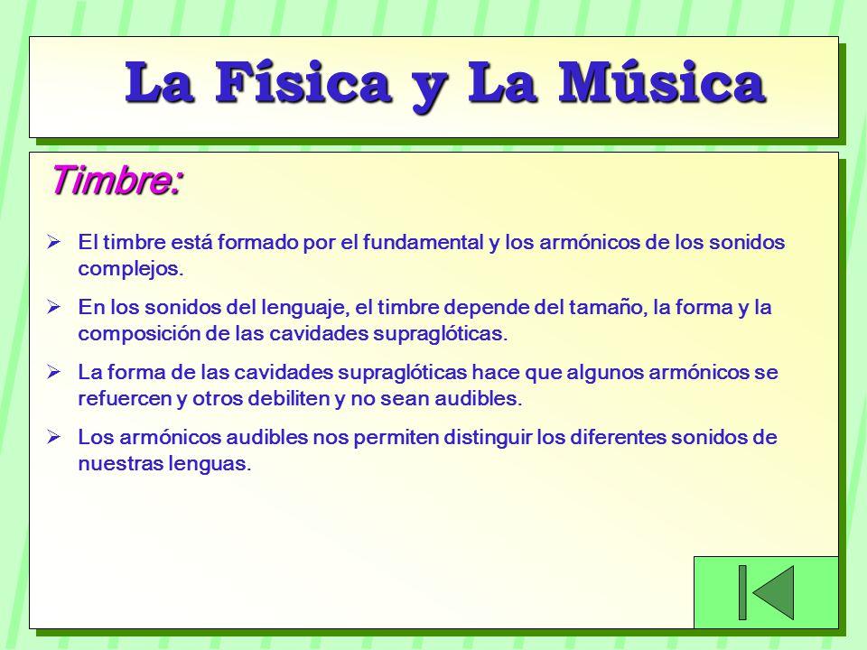 La Física y La Música Timbre: