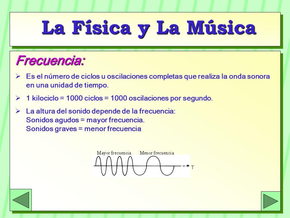 La Física y La Música Frecuencia: