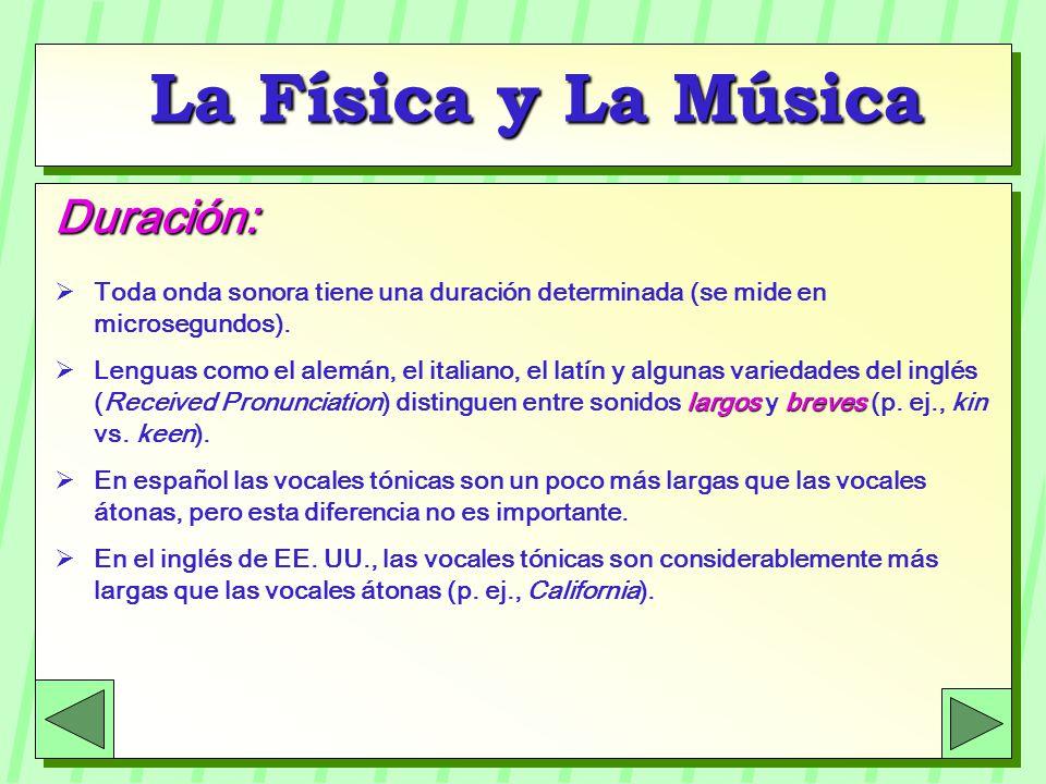 La Física y La Música Duración: