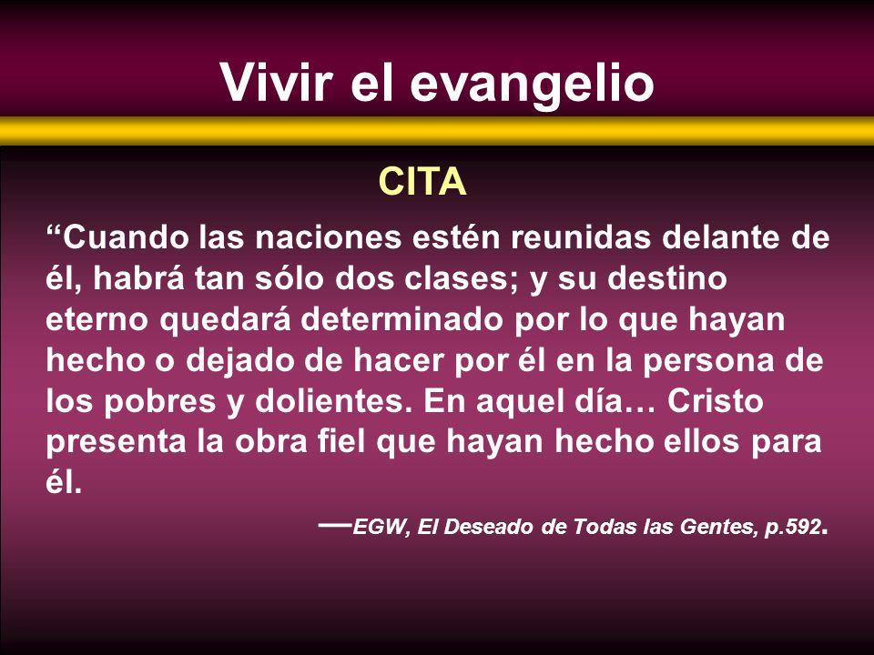 Vivir el evangelio CITA