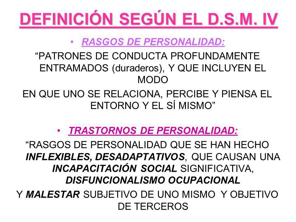 DEFINICIÓN SEGÚN EL D.S.M. IV