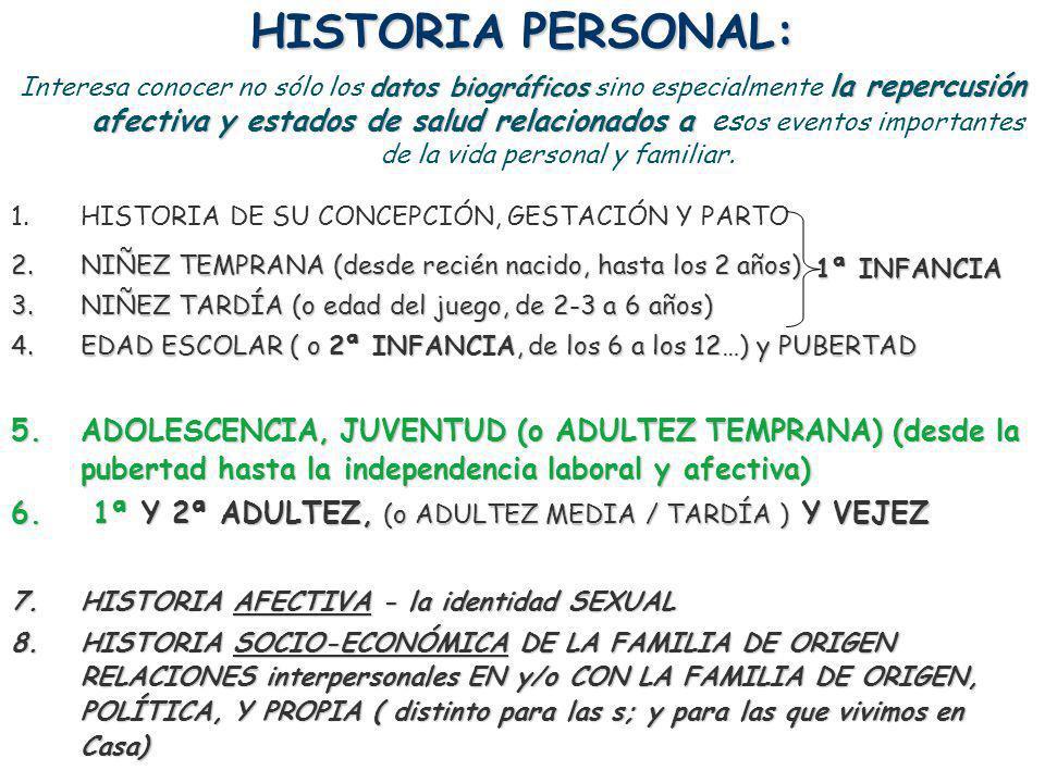 HISTORIA PERSONAL: