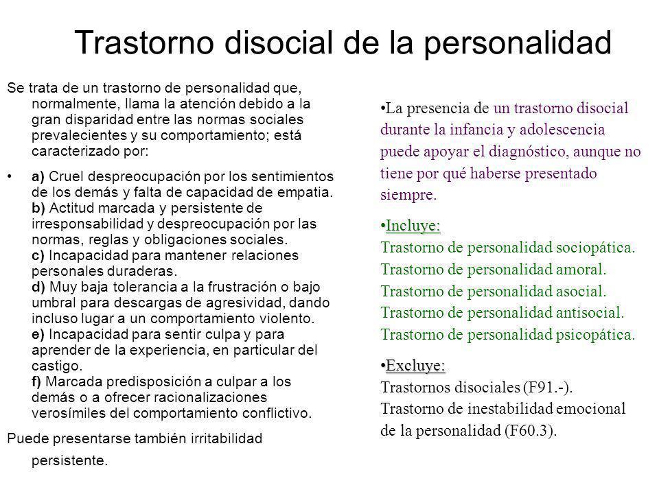 Trastorno disocial de la personalidad