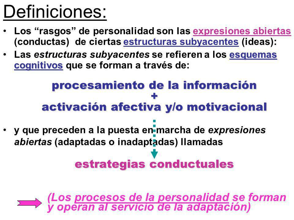 Definiciones: procesamiento de la información +
