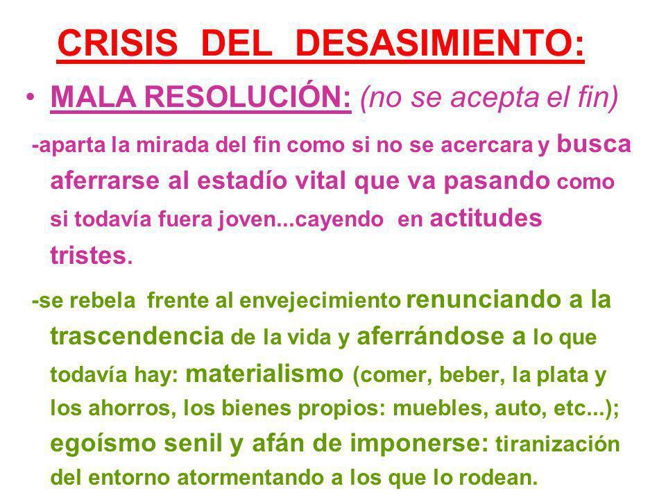 CRISIS DEL DESASIMIENTO: