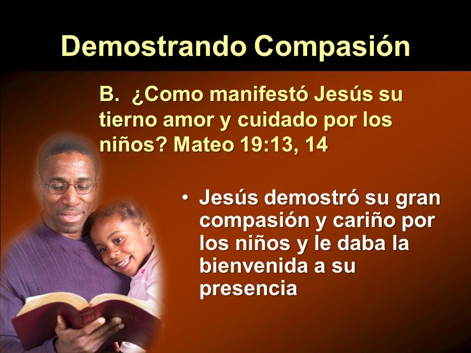 Demostrando Compasión