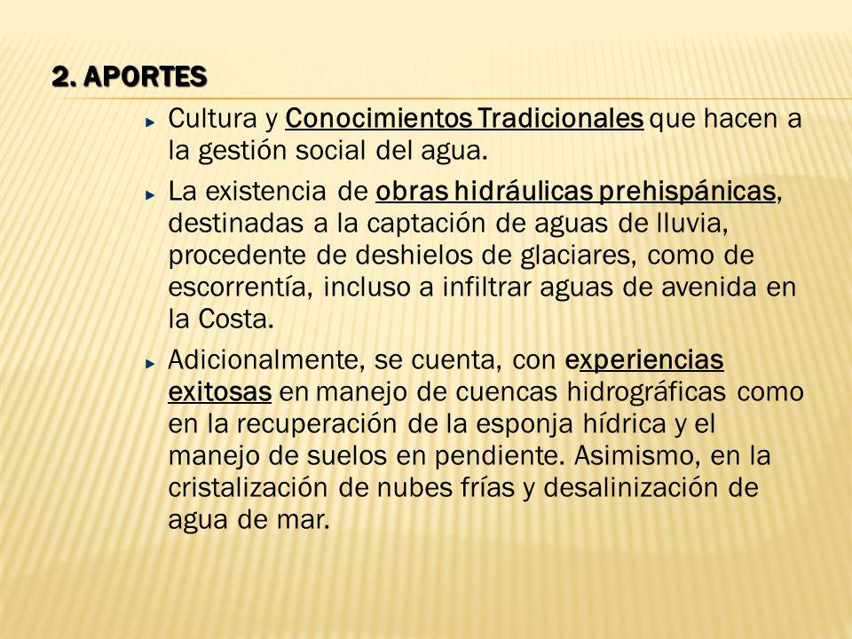 2. aportes Cultura y Conocimientos Tradicionales que hacen a la gestión social del agua.
