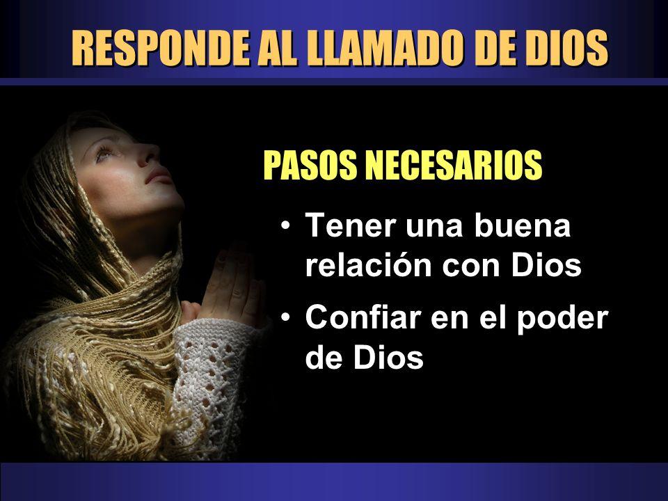 RESPONDE AL LLAMADO DE DIOS