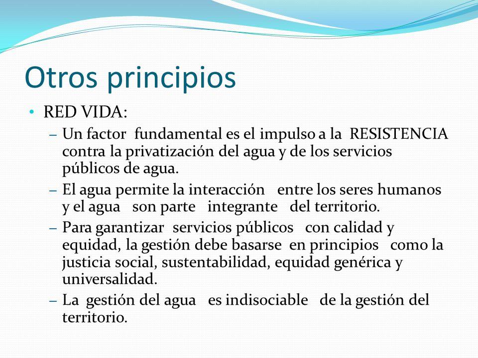 Otros principios RED VIDA: