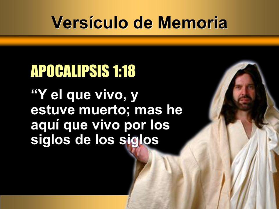 Versículo de Memoria APOCALIPSIS 1:18