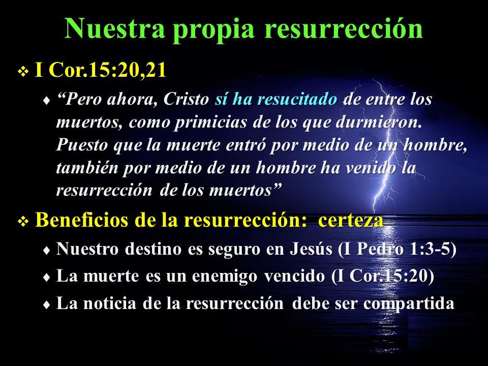 Nuestra propia resurrección