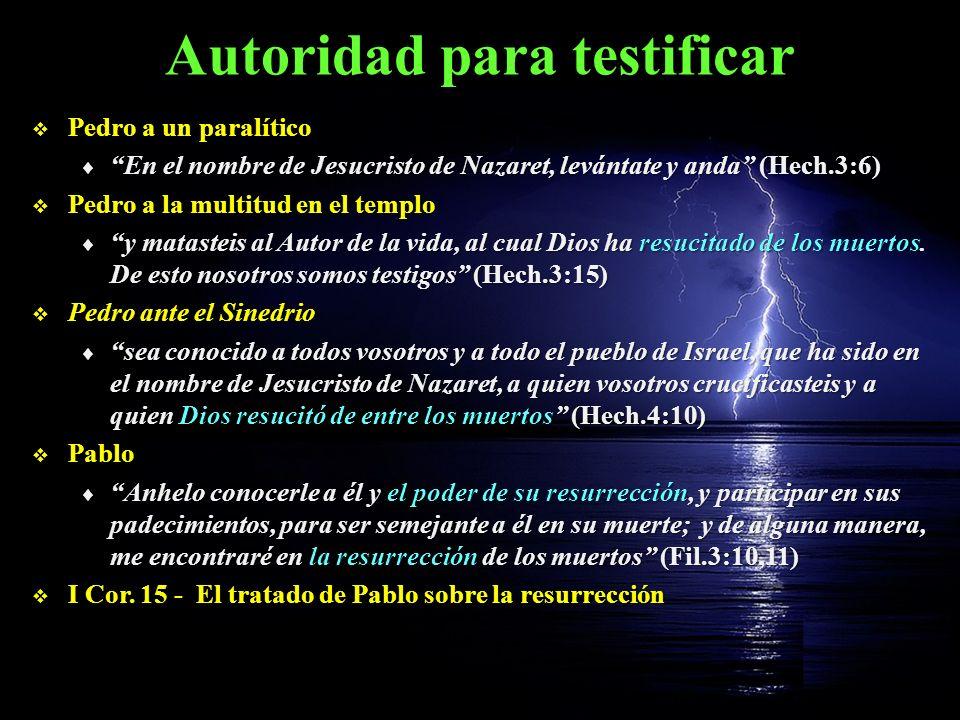 Autoridad para testificar