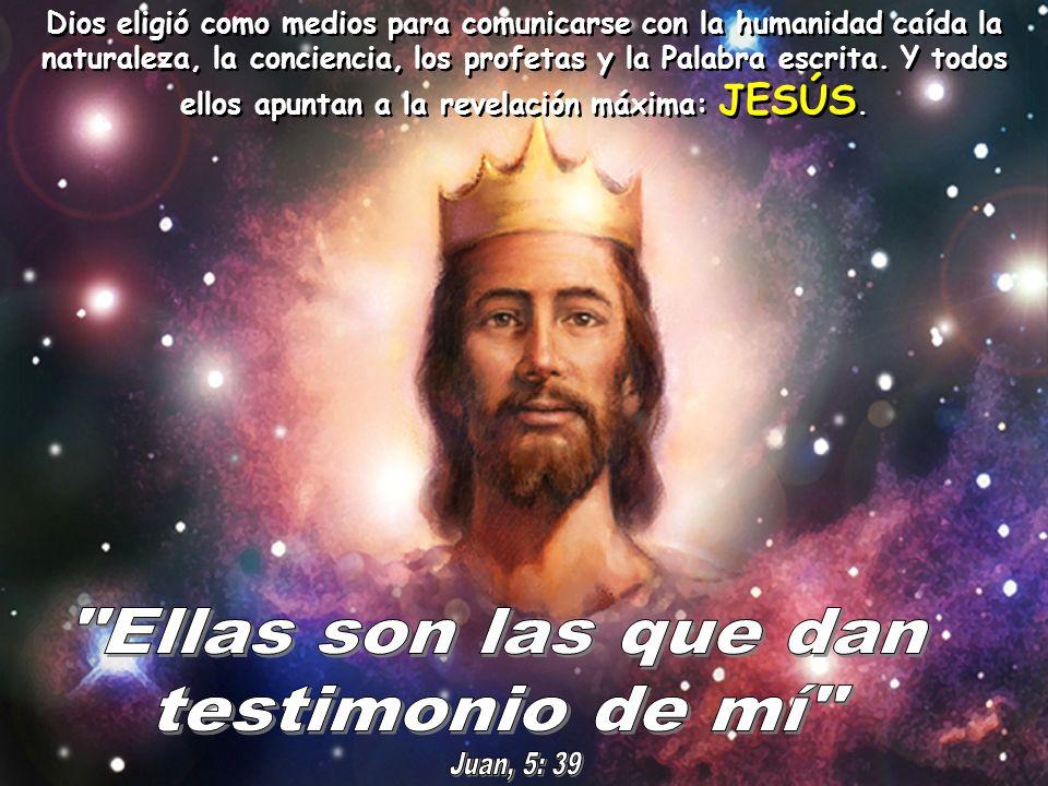 Ellas son las que dan testimonio de mí Juan, 5: 39