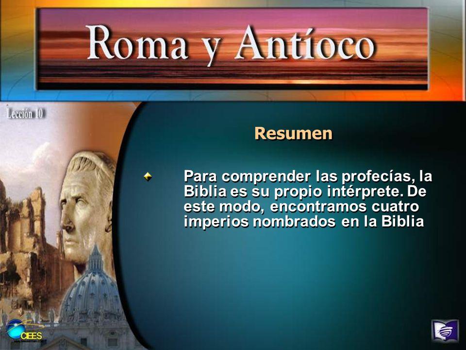 Resumen Para comprender las profecías, la Biblia es su propio intérprete.