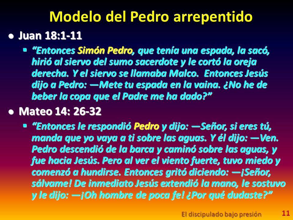 Modelo del Pedro arrepentido